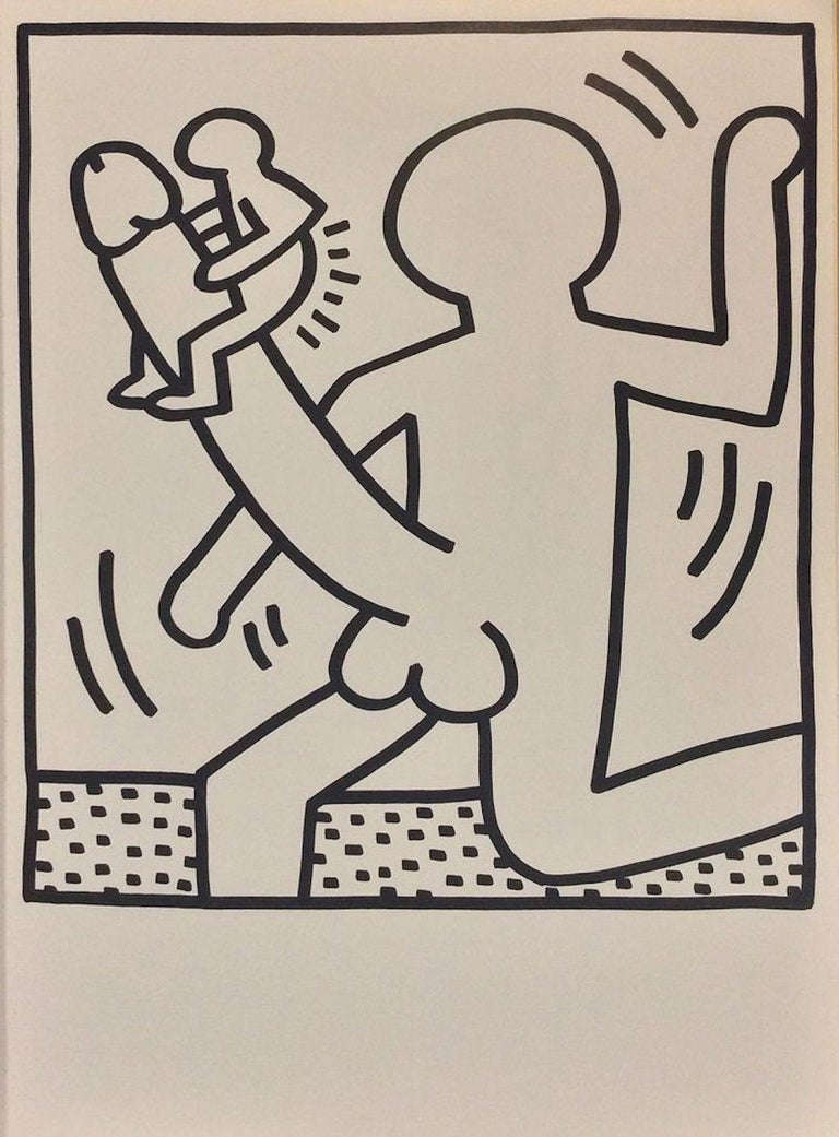 Keith Haring Print - Composition  - Original Lithograph 1983
