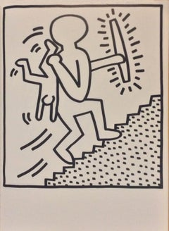 """Lithograph from the """"Keith Haring-Lucio Amelio"""" artist's book, 1983"""