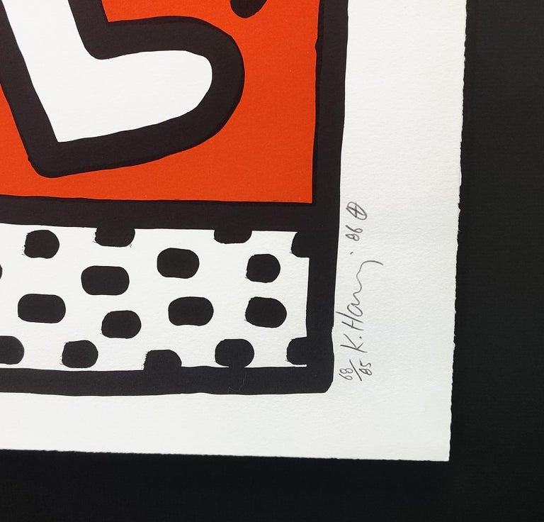DOUBLE MAN - Print by Keith Haring