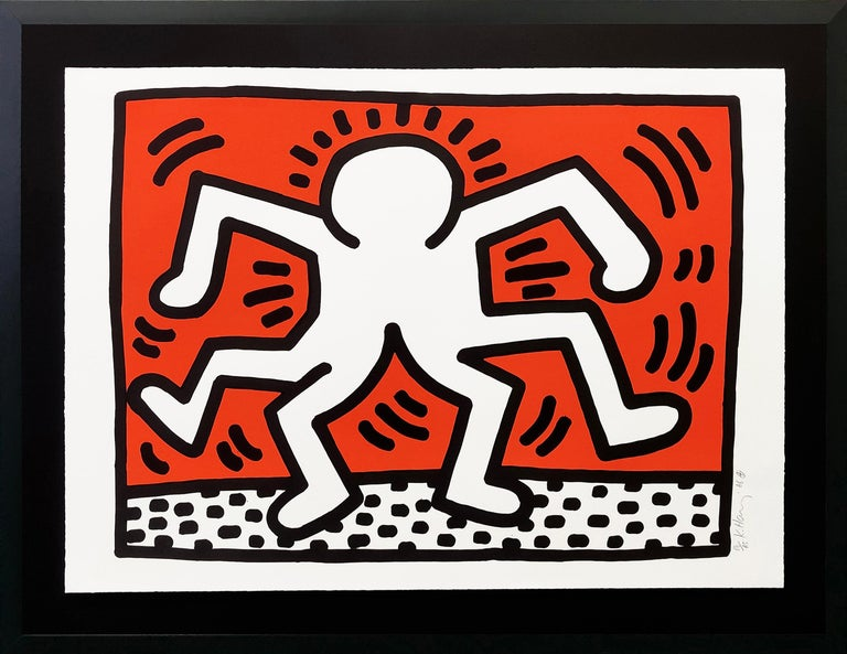 Keith Haring Portrait Print - DOUBLE MAN