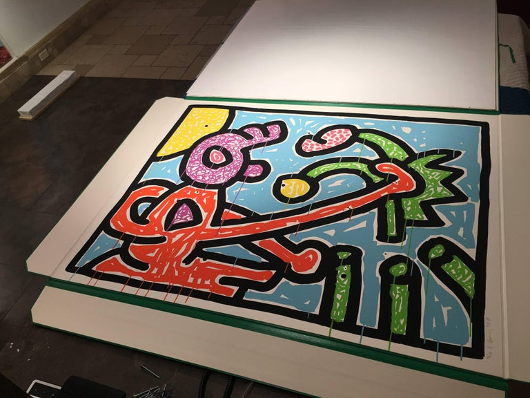 Flowers (1) - Contemporary Print by Keith Haring