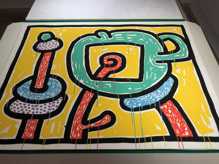 Flowers (3) - Print by Keith Haring