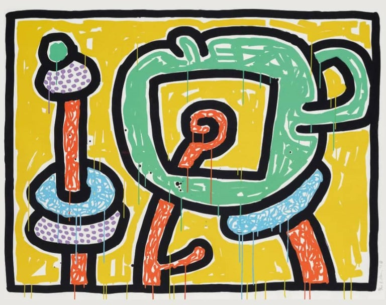 Keith Haring Figurative Print - Flowers (3)