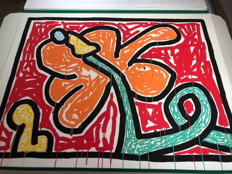 Flowers (5) - Print by Keith Haring