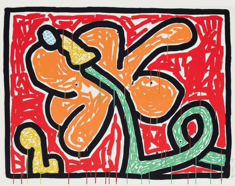 Keith Haring Figurative Print - Flowers (5)