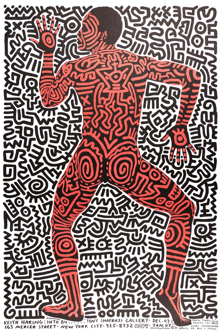 Into 84 Exhibition Poster [Tony Shafrazi Gallery] - Print by Keith Haring