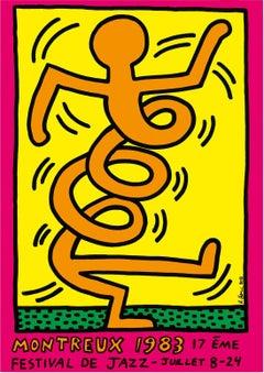 Jazz : Swing Guy (Pink) - Vintage Screenprint Poster, Montreux, 1983