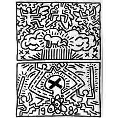 Keith Haring 1982 poster for Nuclear Disarmament (Keith Haring prints)