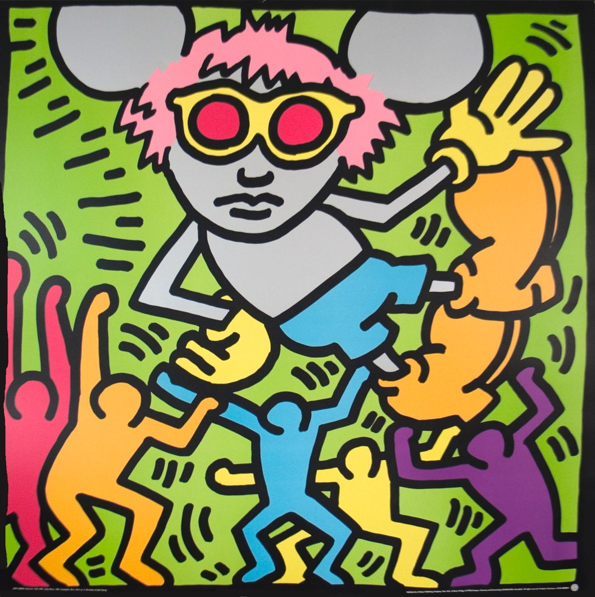 Keith Haring-Andy Mouse - Poster