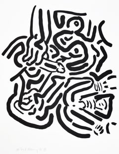 Keith Haring, Bad Boys Portfolio, 1986, 6 Screenprints