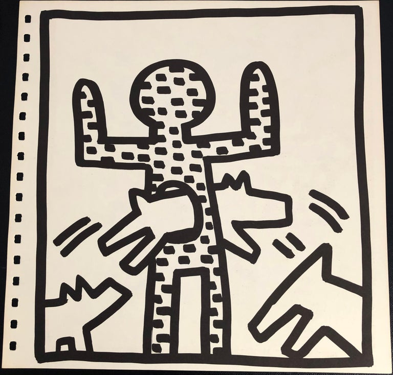 Keith Haring barking dog lithograph 1982 (Haring untitled barking dog)  For Sale 1