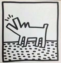 Keith Haring barking dog lithograph 1982 (Haring untitled barking dog)