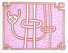 Keith Haring, Chocolate Buddah 3, 1989, Lithograph signed