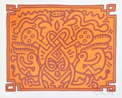 Keith Haring, Chocolate Buddah 4, 1989, Lithograph signed