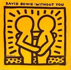 Keith Haring David Bowie Vinyl Record Art (Keith Haring album art)