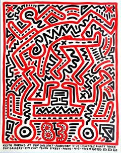 Keith Haring Fun Gallery exhibition poster 1983 (vintage Keith Haring)
