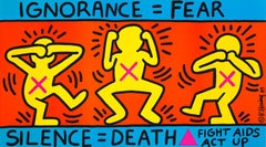 Keith Haring Ignorance = Fear, 1989 (Keith Haring Act Up poster)
