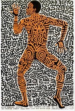 Keith Haring Into 84 (Haring Bill T. Jones announcement card 1983 Shafrazi)