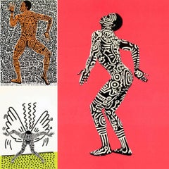Keith Haring Into 84 (set of 3 Haring Shafrazi announcements)