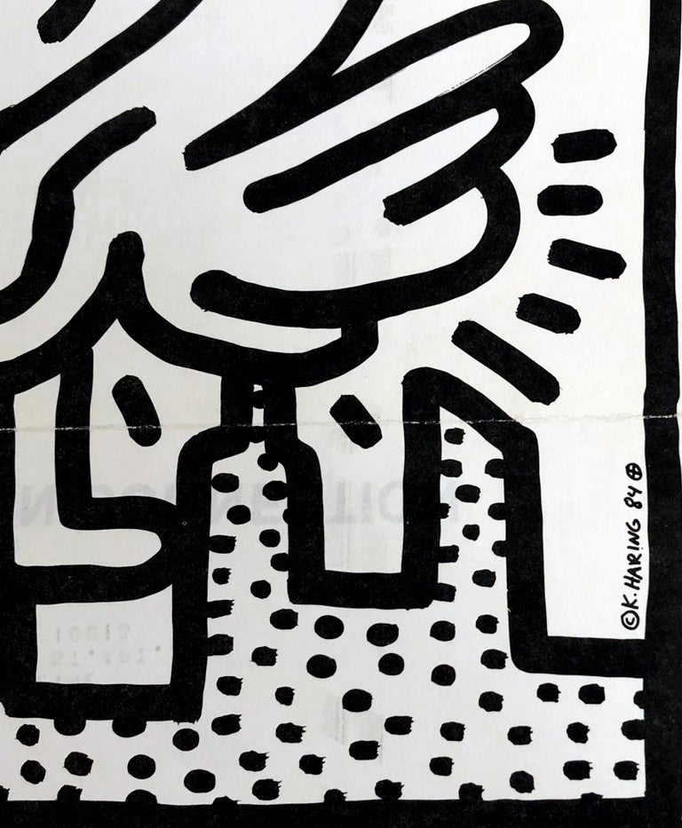 Keith Haring Kutztown Connection 1984  - Gray Figurative Print by Keith Haring