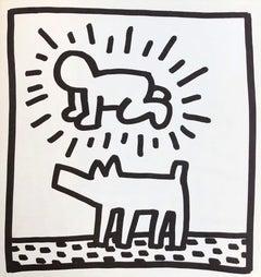 Keith Haring lithograph 1982 (Keith Haring Tony Shafrazi gallery)