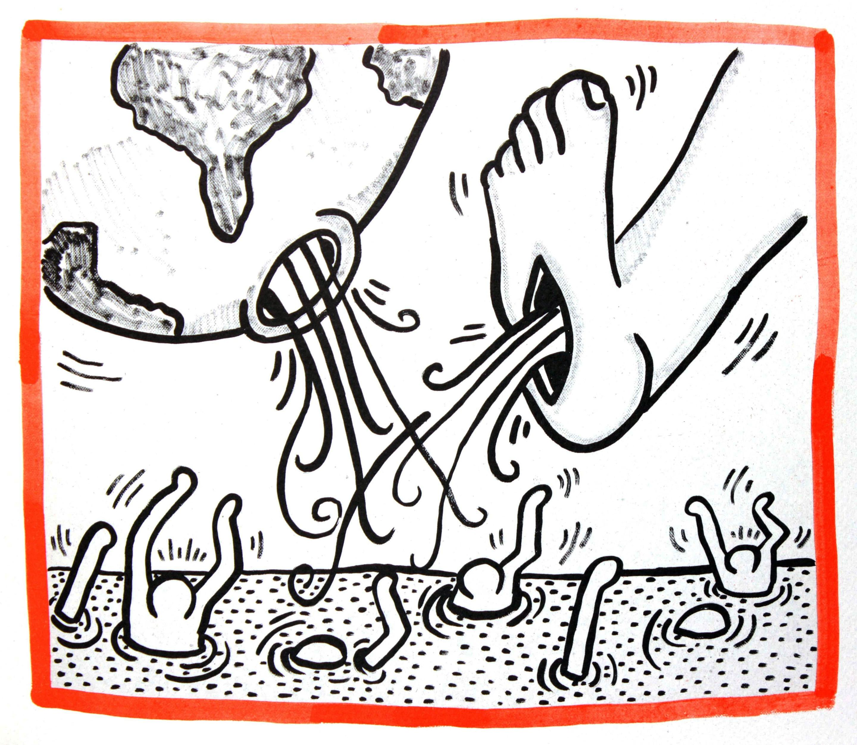 Lithograph from Keith Haring Against All Odds 1990