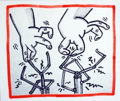 Keith Haring lithograph 1990 (Keith Haring Against All Odds)