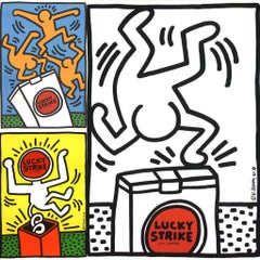 Keith Haring Lucky Strike 1987: set of 3 works (Keith Haring prints)