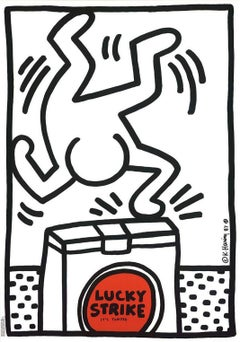Keith Haring Lucky Strike poster 1987 (White)
