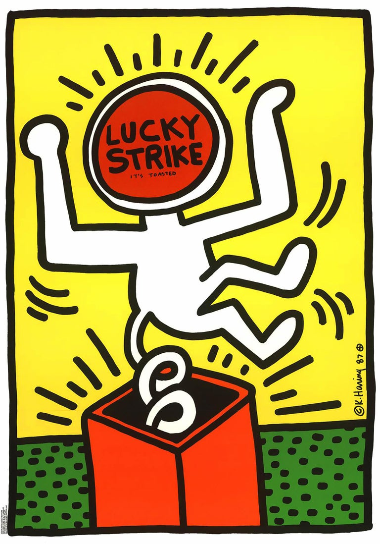 Keith Haring Lucky Strike (Yellow)  - Print by Keith Haring