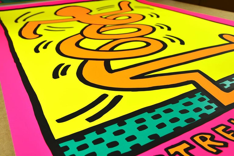 KEITH HARING - Montreux Jazz Festival, 1983 - Screen print - New York Pop Art - Print by Keith Haring