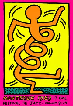 KEITH HARING - Montreux Jazz Festival, 1983 - Screen print - New York Pop Art