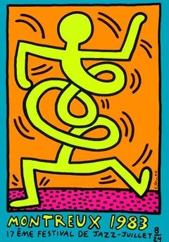 Keith Haring Montreux Jazz Silkscreen (Keith Haring prints)