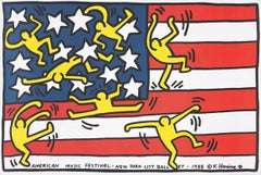 Keith Haring New York City Ballet poster 1988 (Keith Haring American flag)
