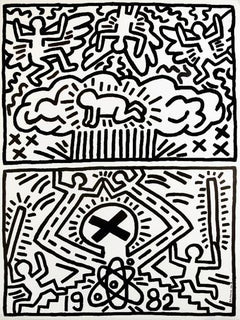 Keith Haring Nuclear Disarmament poster 1982