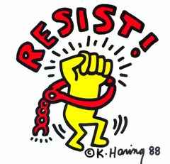 Keith Haring Resist in Concert! poster 1988