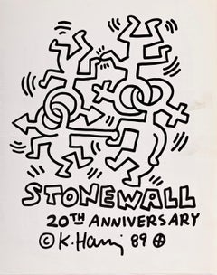Keith Haring Stonewall 20th Anniversary poster