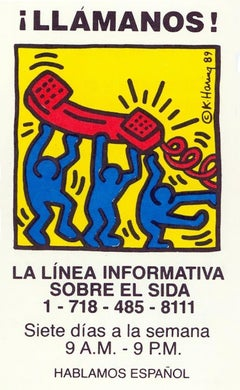Keith Haring Talk To Us! 1989 (Keith Haring Aids hotline)