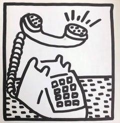 Keith Haring telephone lithograph 1982 (Keith Haring prints)