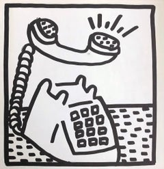 Keith Haring telephone lithograph 1982 (Keith Haring prints)