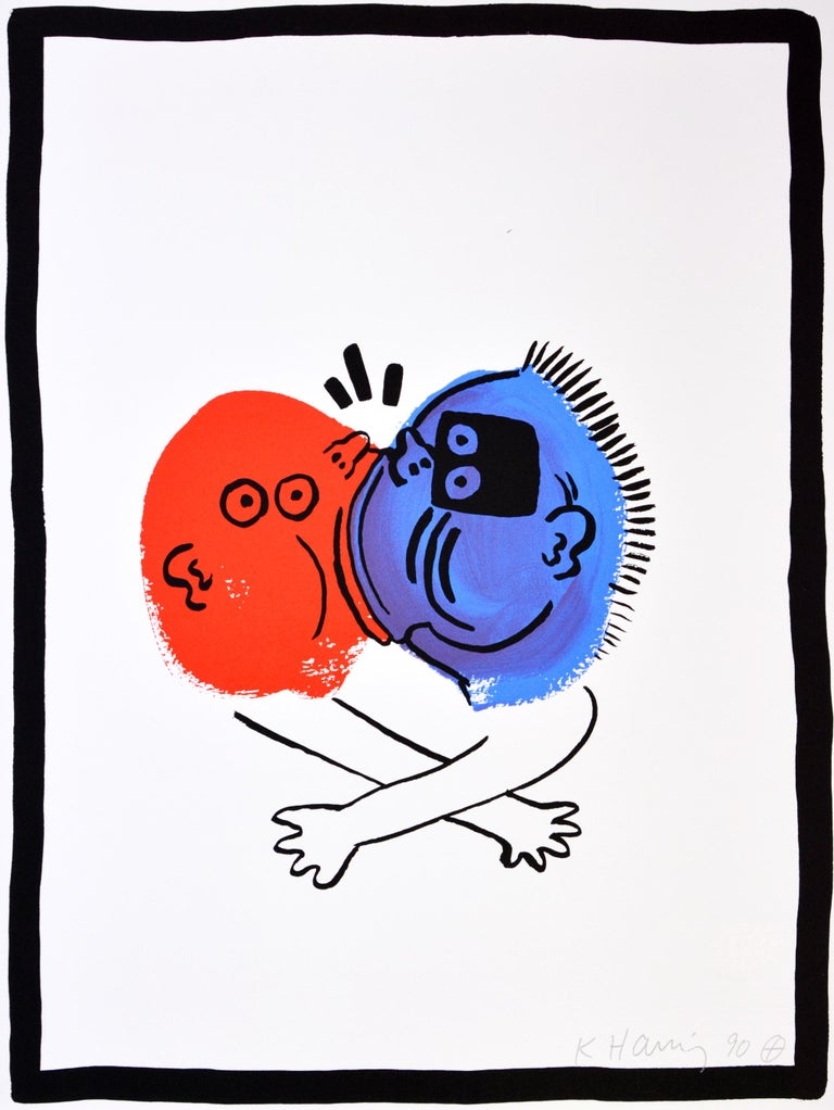 Keith Haring, The Story of Red and Blue, complete portfolio, 1990 For Sale 8