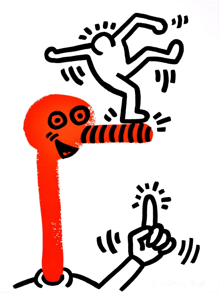 Keith Haring, The Story of Red and Blue, complete portfolio, 1990 - Print by Keith Haring
