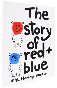 Keith Haring, The Story of Red and Blue, complete portfolio, 1990