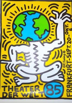 Keith Haring Theater Der Welt - Vintage Poster - 1985