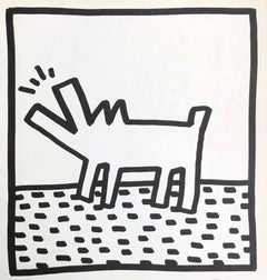 Keith Haring (untitled) barking dog lithograph 1982 (Haring prints)