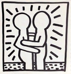 Keith Haring (untitled) Best Buddies lithograph 1982 (Keith Haring prints)