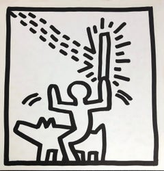Keith Haring (untitled) Laser Beam lithograph 1982