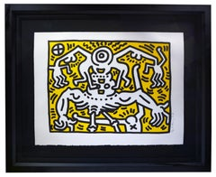 Keith Haring, Untitled, screenprint in colours, 1986, signed