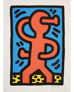 Keith Haring, Untitled, screenprint in colours, signed, 1987