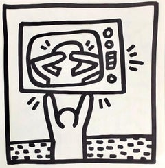Keith Haring (untitled) TV lithograph 1982 (Keith Haring prints)